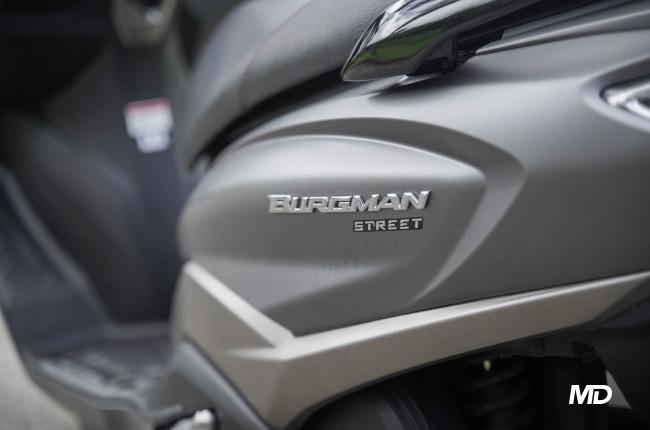 2020 Suzuki Burgman rear badge