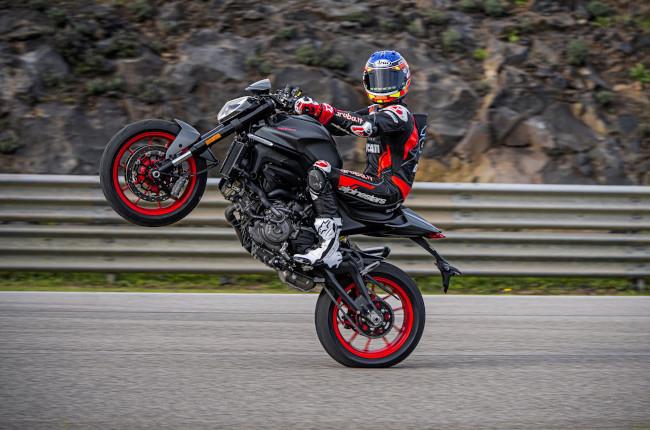 2021 Ducati Monster Wheelie