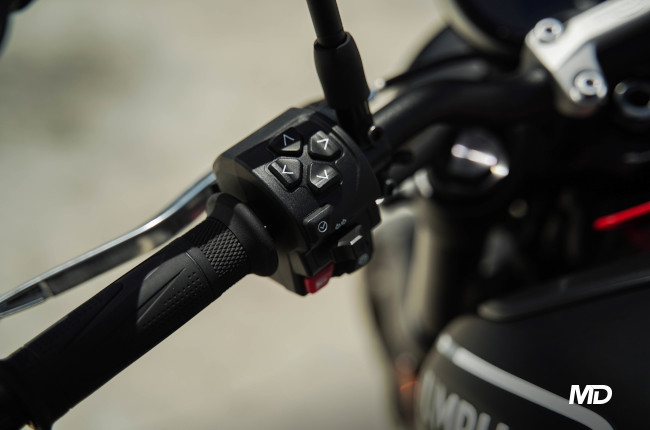 2021 Triumph Trident 660 Philippines interface buttons