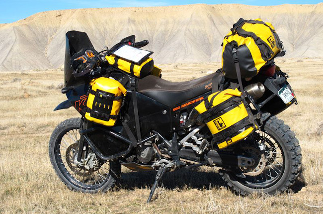 Adventure Motorcycle with Luggage