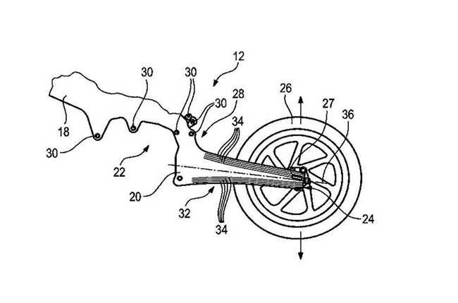 BMW Flexible Carbon Swingarm Patent