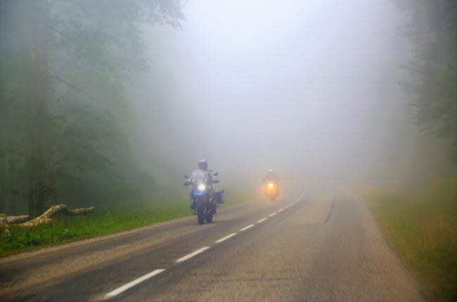 BMW R1200 GS Foggy Weather