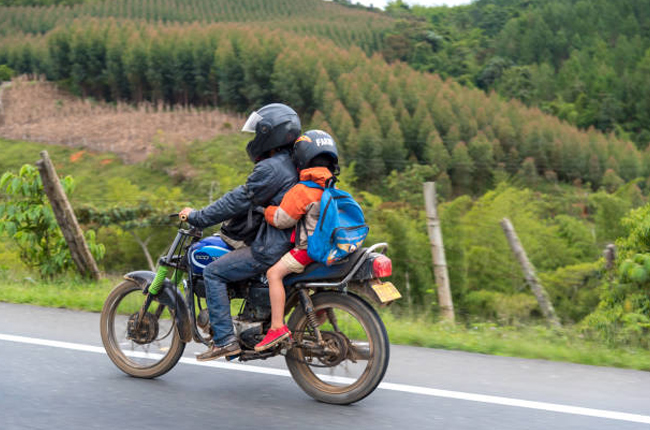 Child riding Motorcycle