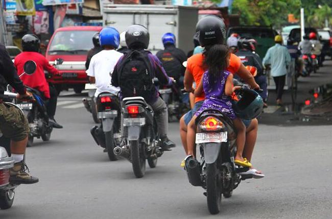 Children Riding Motorcycle