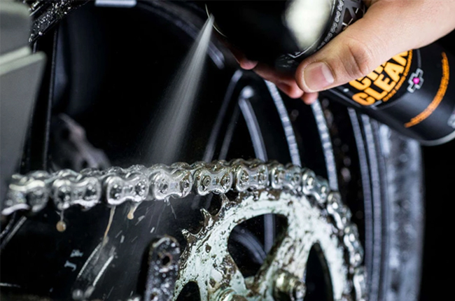 Clean off your chain and sprocket
