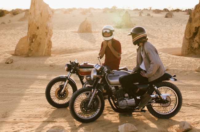 Dusty Motorcycle Riding