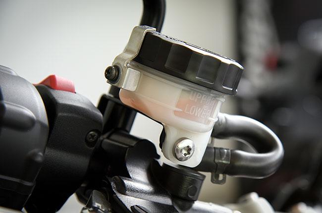 Front brake fluid reservoir