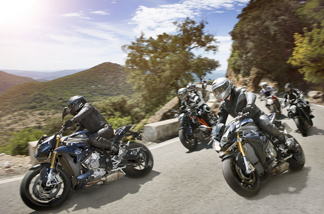 Group of motorcycle riders