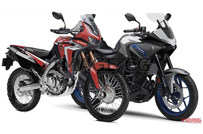 Honda and Yamaha 250 cc ADV