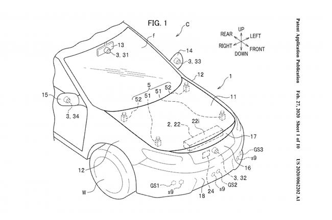 Honda External Airbag Patent