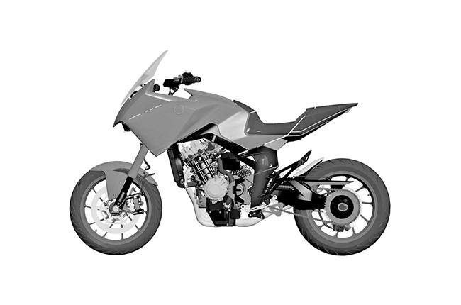 Honda Inline-Four Adventure Patent