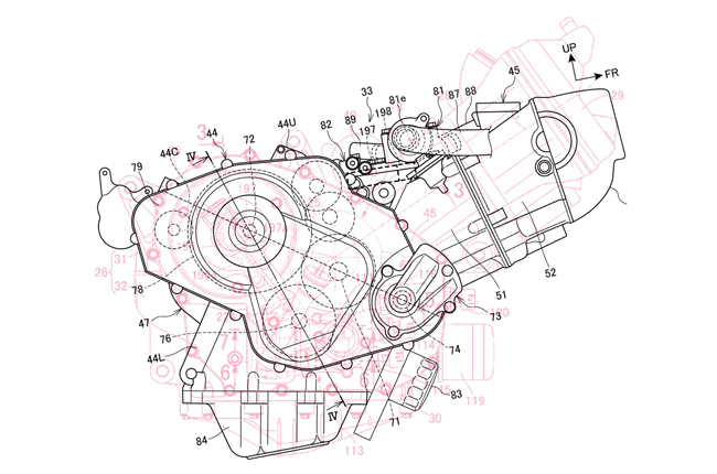 Honda NC 850 Engine Patent