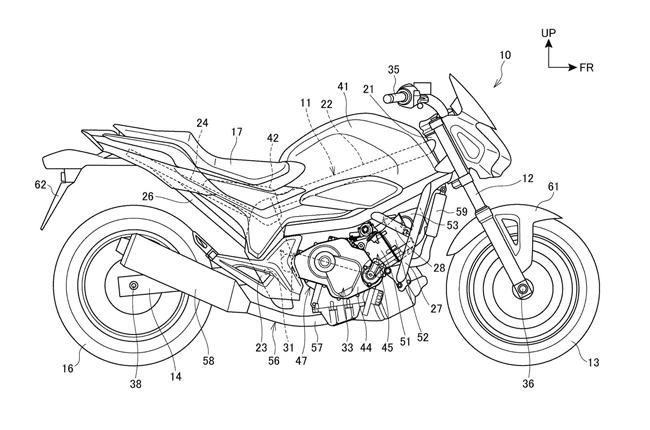 Honda NC750 Patent