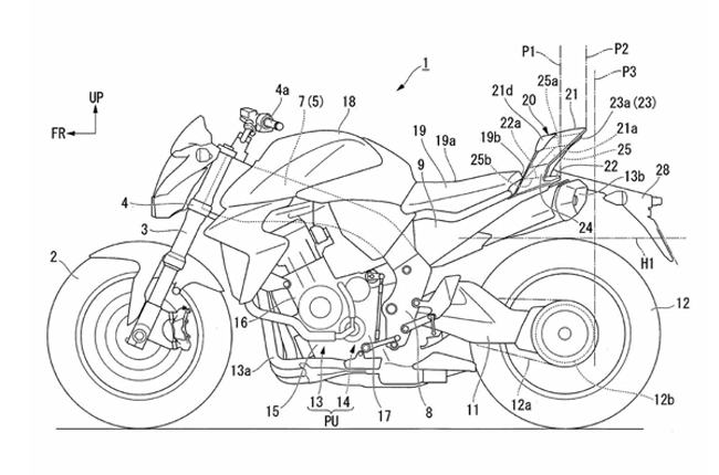 Honda Tail Section Patent