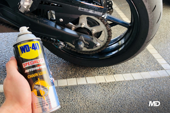 How to clean you motorcycle's drivetrain after a rainy ride