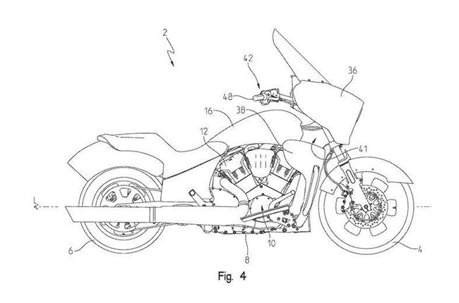 Indian Liquid-Cooled Tourer Patent