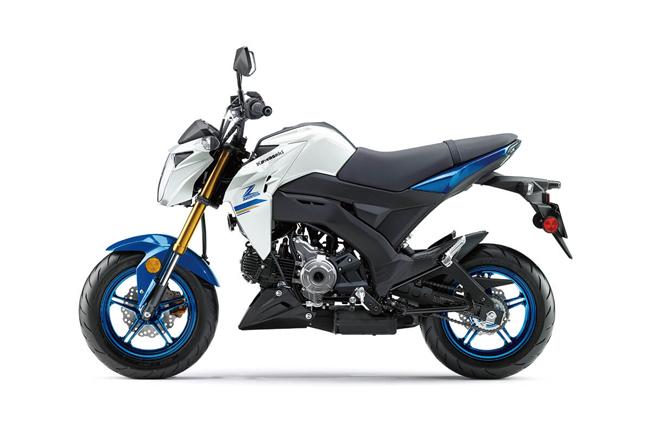 Kawasaki Z125 Pro Pearl Robotic White/Candy Plasma Blue