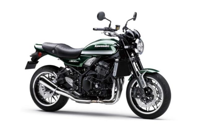 Kawasaki Z900RS Green and White