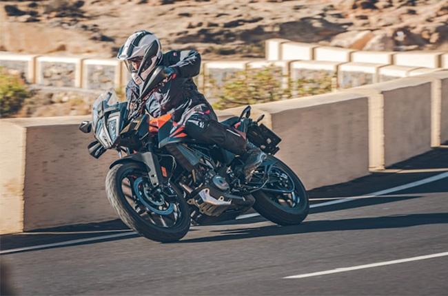 KTM 390 Adventure action shot