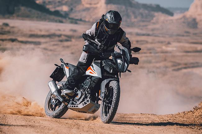 KTM 390 Adventure riding shot