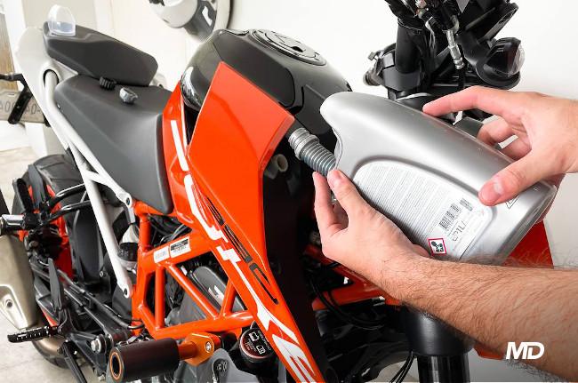 KTM 390 Duke Coolant Fill