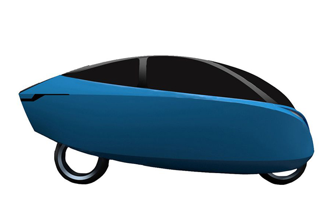 Lightning Fully-enclosed electric motorcycle patent