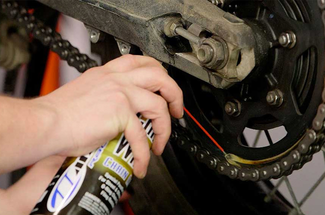 Lubricate Motorcycle Chain