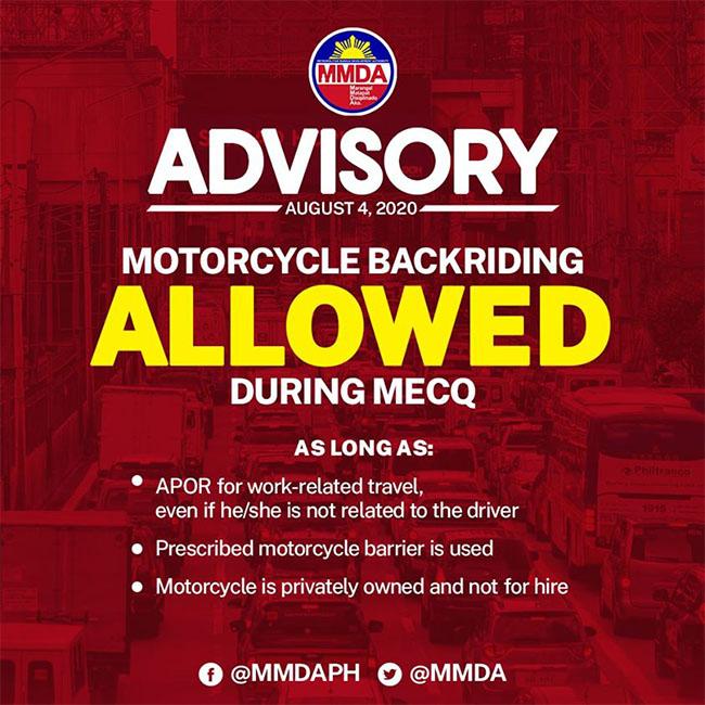 MMDA Advisory