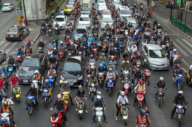 Motorcycle Commuting in Traffic
