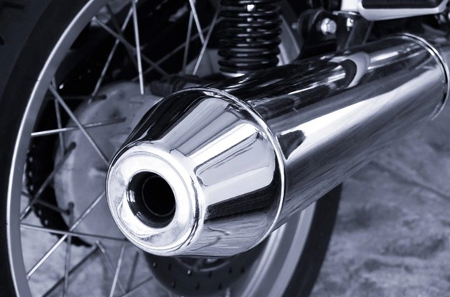 Motorcycle exhaust pipe