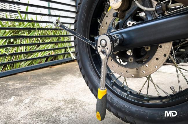Motorcycle Rear Axle