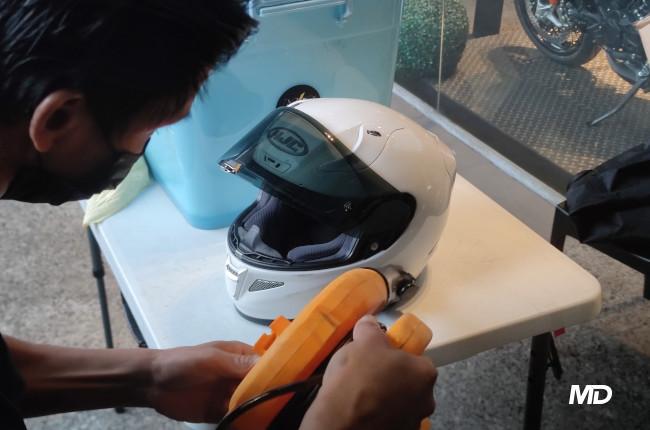 Motoshed x Motostrada Helmet Detailing