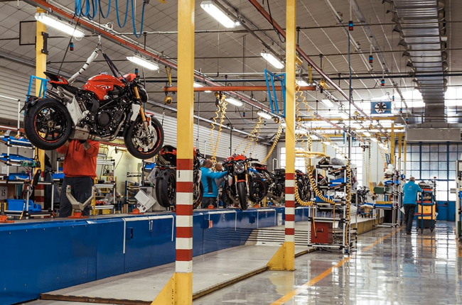 MV Agusta production line