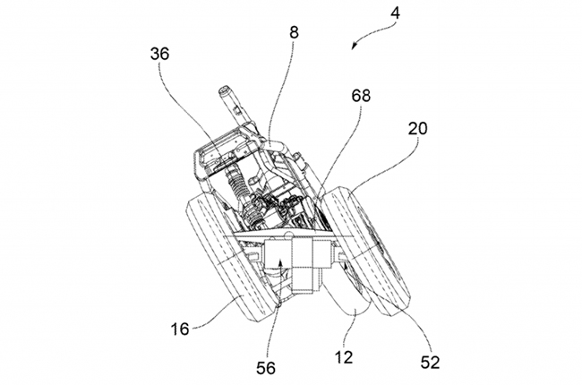 Piaggio Three-wheeler Patent
