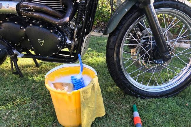 Prepare cleaning materials