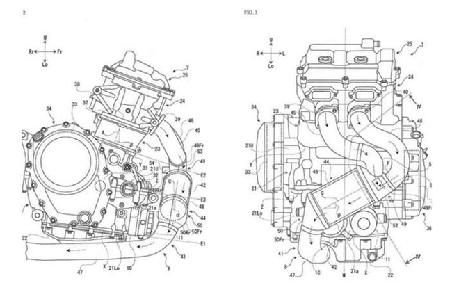 Suzuki Parallel-Twin Engine Patent
