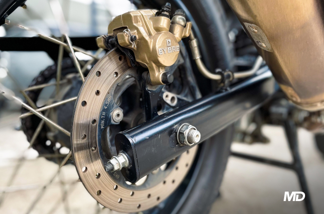 Tightened Swing Arm Nuts