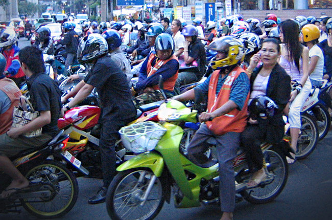 Tips for riding in heavy traffic