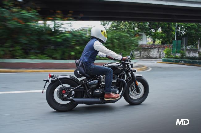 Triumph Bonneville Bobber Riding Philippines