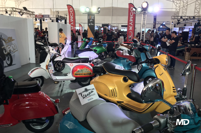 Vespas on Display