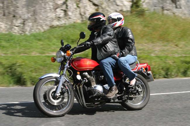 Vintage Cafe Motorcycle Passenger Pillion