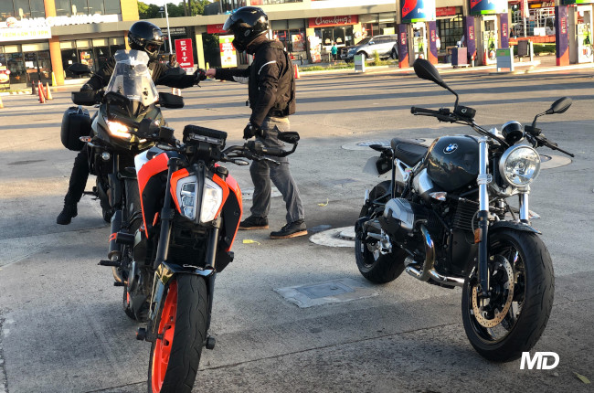 Why do motorcyclists ride long distances just for a quick breakfast?
