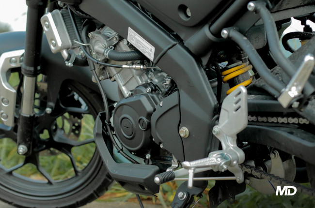 Yamaha XSR155 Philippines Engine and rear mono shock