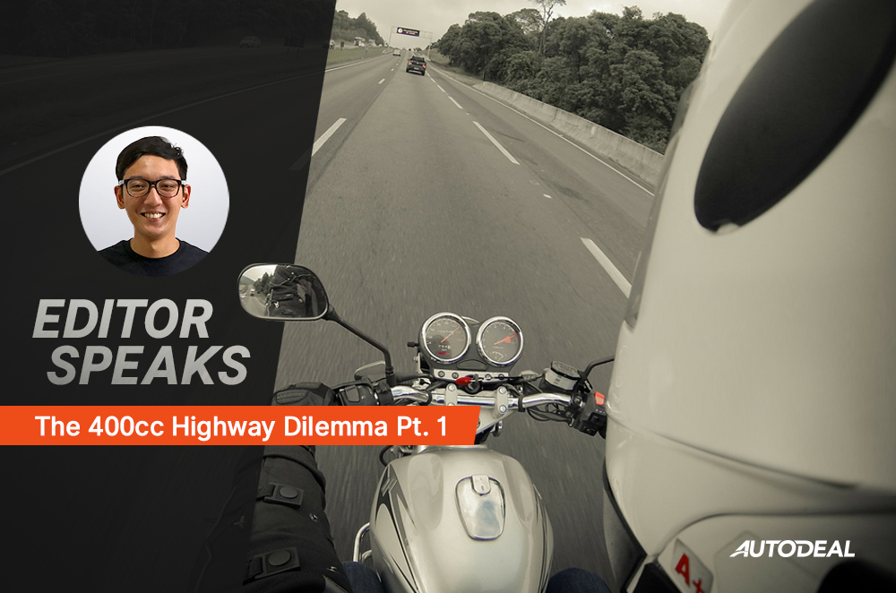 Here's a brief history on how motorcycles have been controlled on our major expressways.