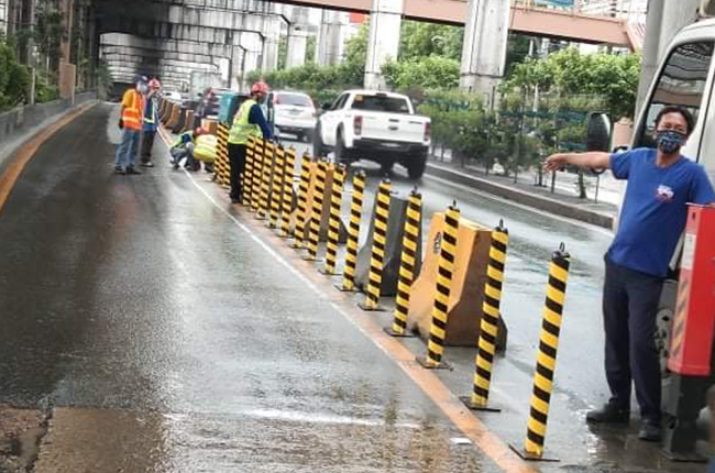 EDSA busway will be divided with steel bollards