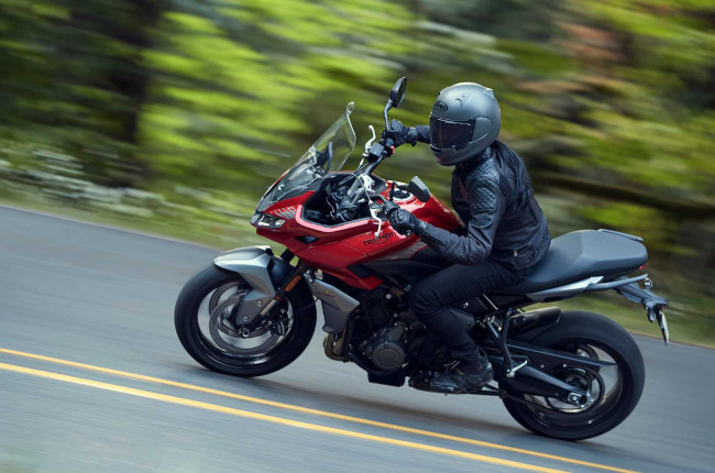 Feast your eyes on the undisguised Triumph Tiger Sport 660
