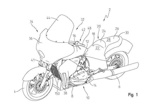 Indian Liquid Cooled Tourer Patent
