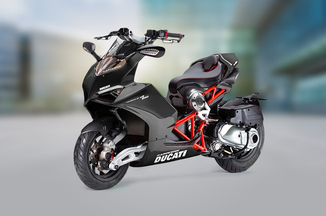 Italjet Dragster and Ducati Panigale V2 mashup