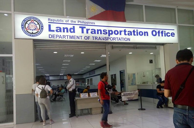 LTO's drive-thru registration renewal system