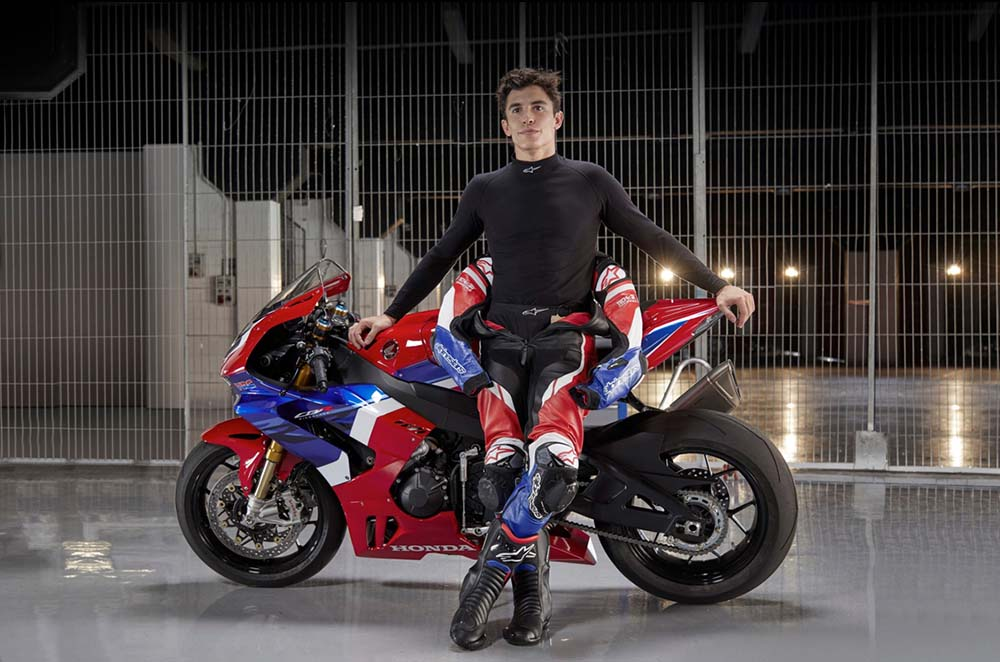 Mark Marquez on a Fireblade